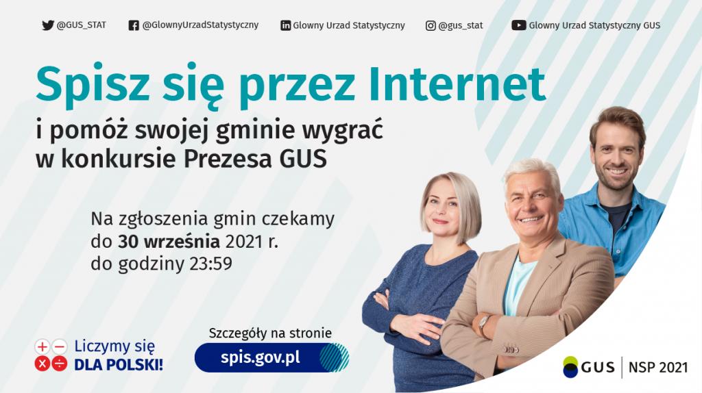 Spisz sie przez internet i pomórz swojej gminie wygrać w konkursie GUS.