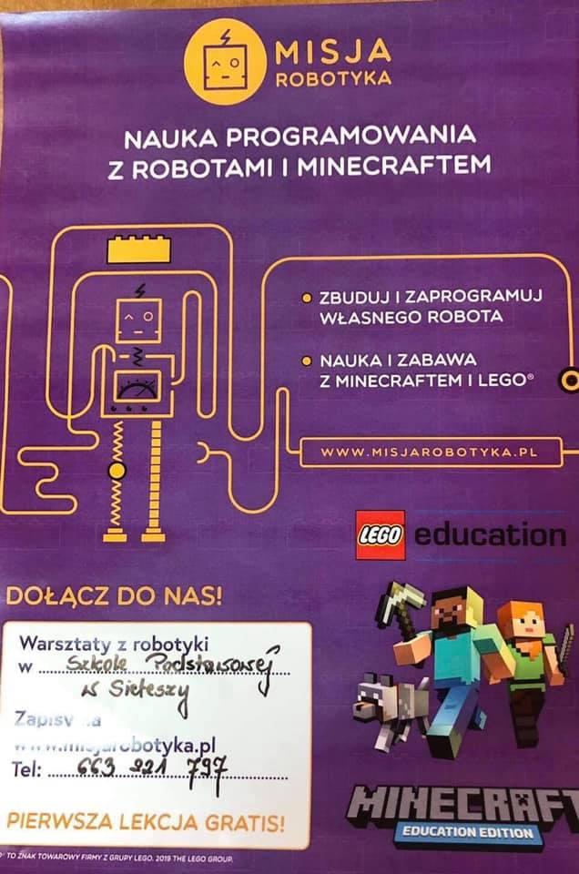 Plakat informacyjny - Misja Robotyka