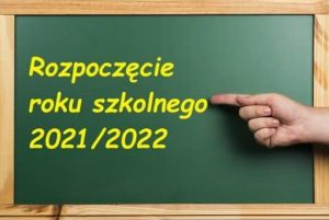 Plakat - rozpoczęcie roku szkolnego 2020 / 2021