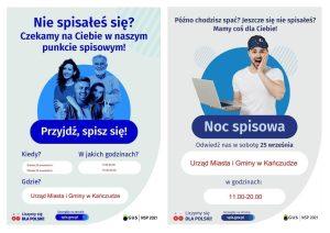 Informacja na temat punkt spisowego w Urzędzie Miasta i Gminy w Kańczudze